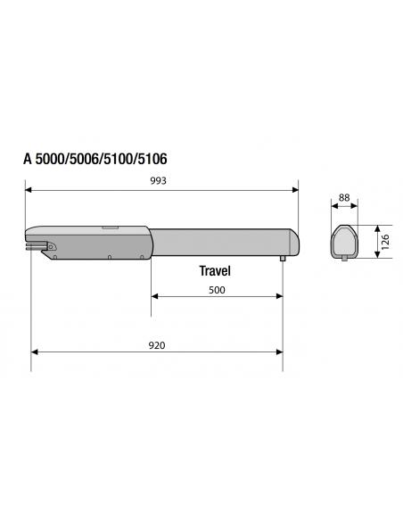 Pohon ATI-5000 set pre 2-krídlovú bránu (max. 10 m)