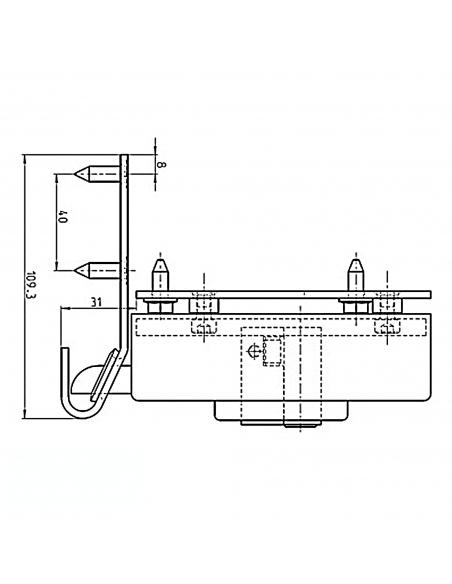 Hörmann Elektrický zámok krídlovej brány, blokovanie do stĺpika