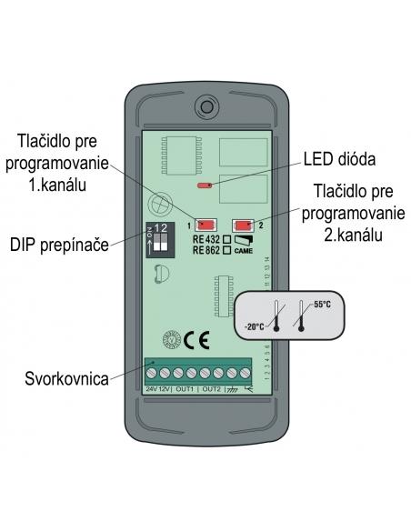 CAME externý prijímač RE432