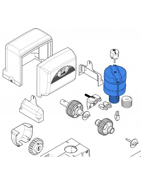 CAME elektromotor pre pohon BX-A/BX-74 (200W)