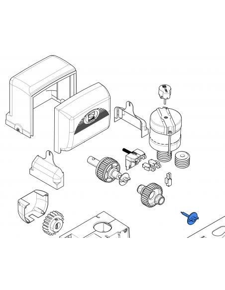 CAME skrutka mechanického odblokovania BX