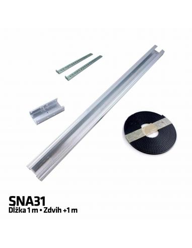 NICE SNA31 predĺženie vodiacej koľajnice 1 m