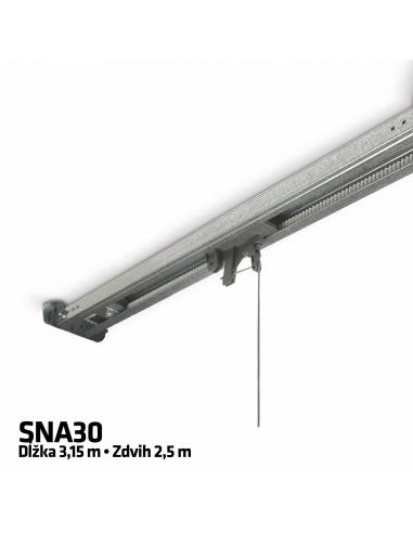 NICE SNA30 1-dielna remeňová vodiaca koľajnica 3,15 m