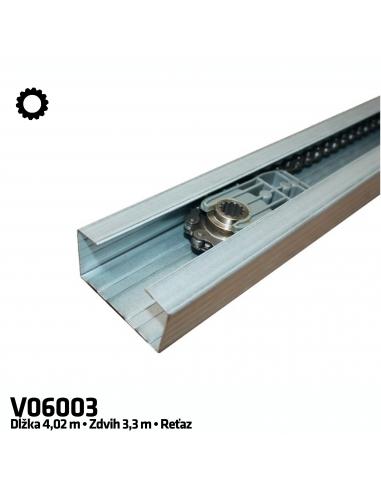 CAME V06003 1-dielna reťazová vodiaca koľajnica 4 m