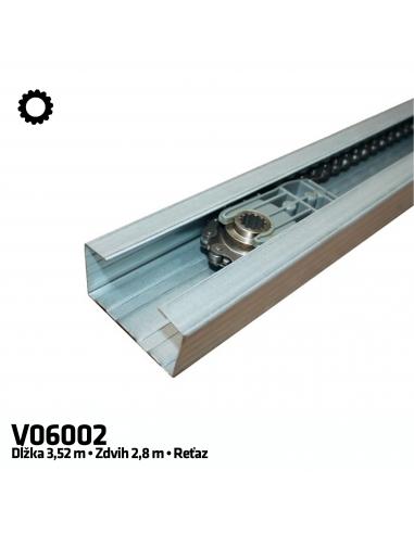 CAME V06002 1-dielna reťazová vodiaca koľajnica 3,5 m
