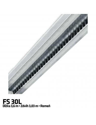 Hörmann 1-dielna vodiaca koľajnica FS 30-L