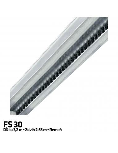 Hörmann 1-dielna vodiaca koľajnica FS 30