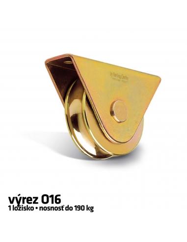 RollingCenter® Koliesko C45 s 1 ložiskom so zatvoreným držiakom, výrez O16