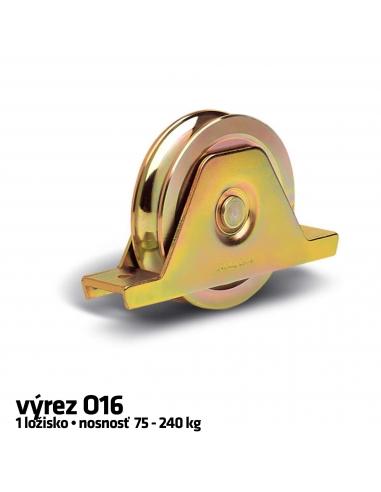 RollingCenter® Koliesko C45 s 1 ložiskom s držiakom, výrez O16
