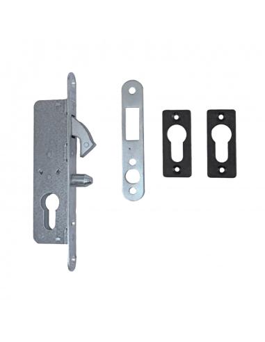Hákový zámok pre posuvné brány s protikusom, hĺbka 36 mm