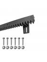 Uvedená cena je za bežný meter Kotviaci materiál je súčasťou Poplastovaný ozubený hrebeň s oceľovým jadrom 20 x 27 mm, modul ozubenia 4