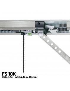 Hörmann 1-dielna vodiaca koľajnica FS 10 K