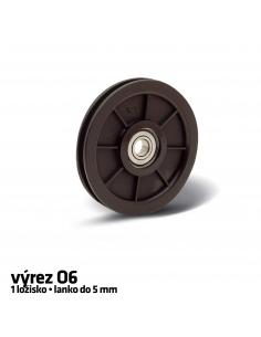 RollingCenter® Nylonová kladka pre lano, výrez O6