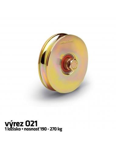 RollingCenter® Koliesko C45 s 1 ložiskom, výrez O21