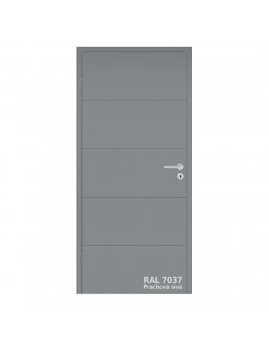 Dvere DesignLine Stripe 15 s falcom, RAL 7037