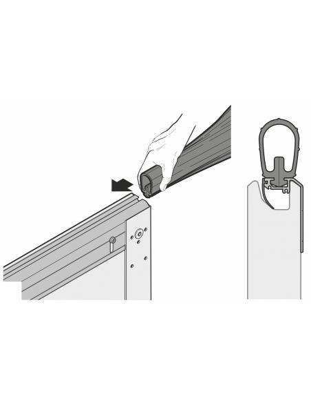 Hörmann nastaviteľný podlahový profil sekcionálnej garážovej brány