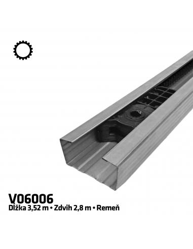 CAME V06006 1-dielna remeňová vodiaca koľajnica 3,5 m