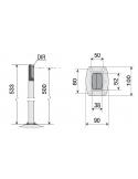 CAME DIR-CG plastový stĺpik pre fotobunky DIR (0,5 m)