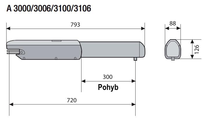 ATI-3000 Rozmery
