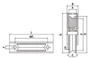 Koliesko C45 s 1 ložiskom so zatvoreným držiakom