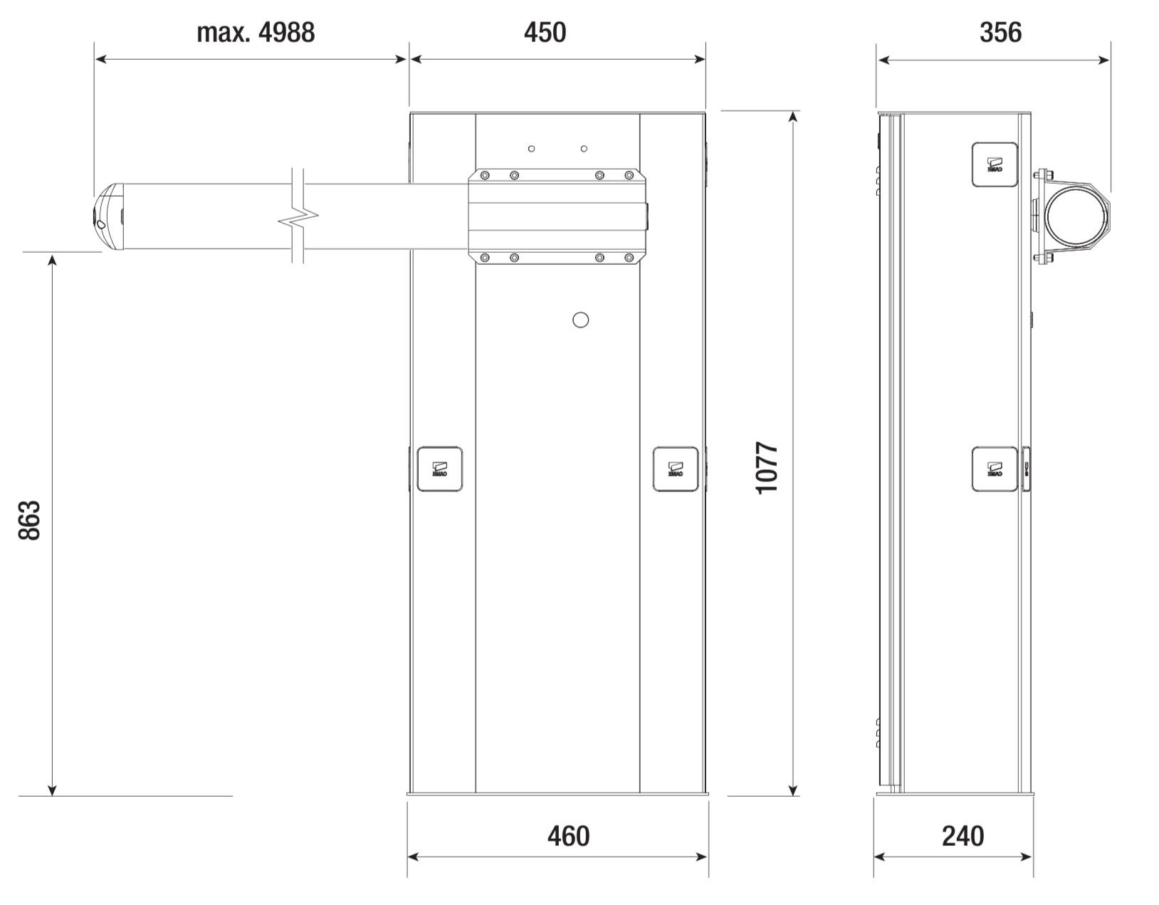 CAME GARD G5000 rozmery