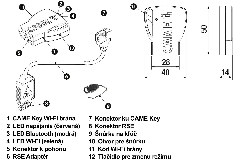 CAME Key Wi-Fi brána