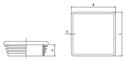Kryt stĺpika nylonový, štvorcový