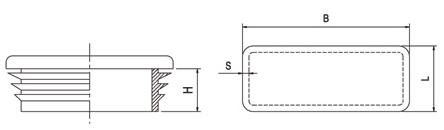 Kryt stĺpika nylonový, obdĺžnikový