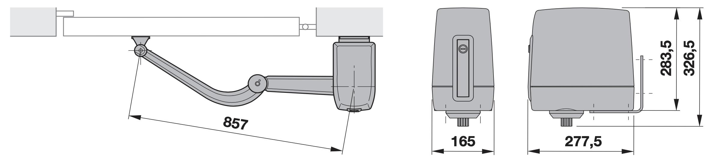 Hormann VersaMatic základné rozmery