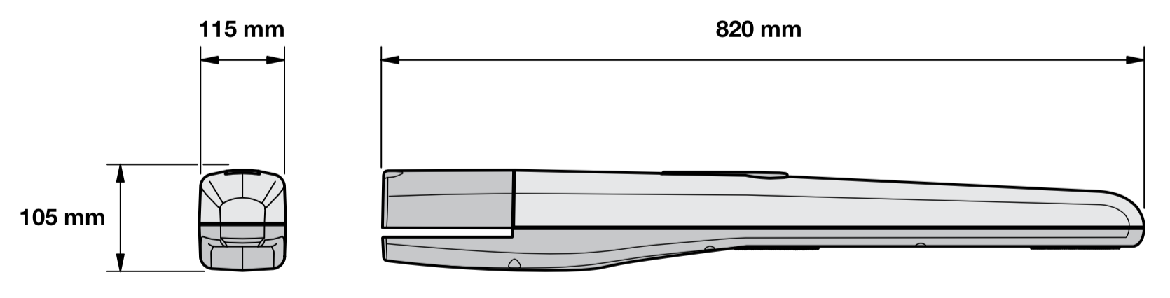 NICE Toona 4024 základné rozmery