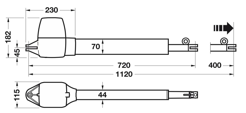 Hörmann RotaMatic P rozmery