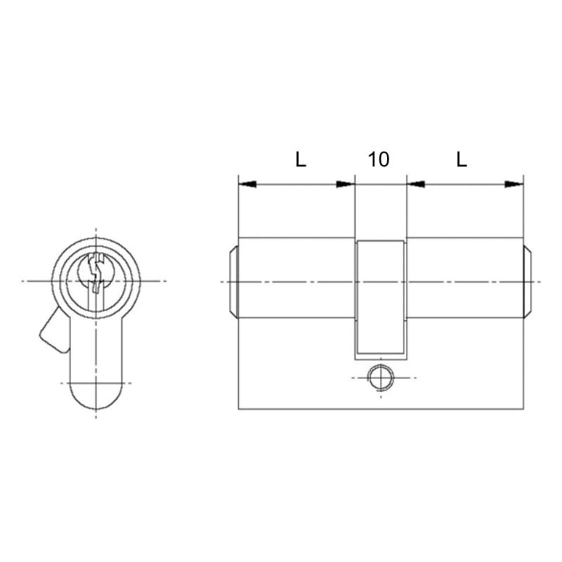Vložka cylindrická 27,5 - 27,5 mm
